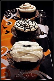 Better start practicing these ghoulish cupcakes, Halloween will be here before we know it.