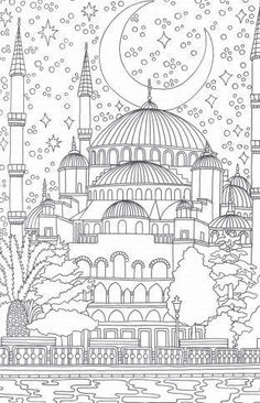 Omeletozeu – Modern Coloring book pages - Malvorlagen Mandala Detailed Coloring Pages, Coloring Book Pages, Printable Coloring Pages, Coloring Sheets, Doodle Coloring, Mandala Coloring, Coloring Pages For Kids, Colouring In, Ramadan Crafts