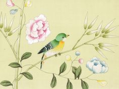 Exquisite hand painted wallpaper, hand painted fabrics, Oriental Hand-painted Art & Design Studio presenting better hand painted wallpaper, chinoiserie wallpaper for you.
