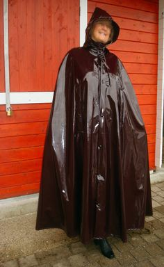 rain cape regencape regenmantel raincoat vintage lack gummiert pelerine rainwear pinterest. Black Bedroom Furniture Sets. Home Design Ideas