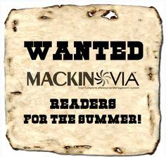 WANTED...Readers For The Summer In Mackin VIA   Van Meter Library Voice