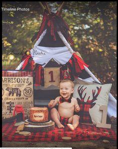 Lumberjack Birthday Party, Boys First Birthday Party Ideas, 1st Birthday Pictures, Baby Boy First Birthday, 1st Birthdays, Baby Party, Baby Boy Shower, Babies, Cake Smash