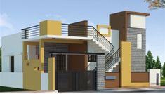 Building Elevation, House Elevation, House Front Design, Modern House Design, 1200sq Ft House Plans, Front Elevation Designs, Independent House, Indian Homes, 3d Building