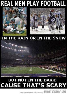 How real men play football…