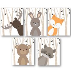 Our cutest set everrrrr! These Woodland peeking critters will bring so much cuteness to your space!!!