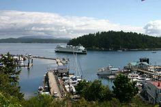 Washington State Islands   San Juan, WA : Washington State Ferry entering Friday Harbor, San Juan ...
