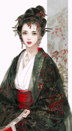 38 ideas Chinese art girl Asian beauty drawings for 2019 - Gesunde Chinese Drawings, Art Drawings, Des Femmes D Gitanes, Japonese Girl, Art Chinois, Art Asiatique, China Art, China China, Hanfu