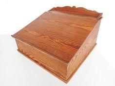 Antique Writing Box Primitive in Oak with door SecretsOfThePast2