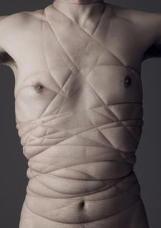 Sophie Lemedioni tying with fishing line to give strange shapes I like the texture and distortion of skin that the fishing line creates. Human Condition, Body Image, Oeuvre D'art, Art Photography, Advanced Photography, Figure Photography, Conceptual Photography, Human Body, Im Not Perfect