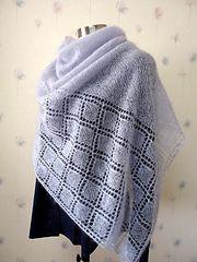 Ravelry $5 100 Diamonds by Sachiko Uemura lace knit shawl