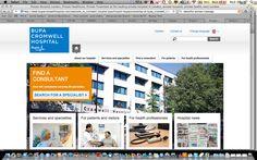 Bupa site - cleab, trustworthy, corporate.