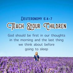 God should be first in our thoughts in the morning and the last thing we think about before going to sleep. In order to teach our children, we need to learn this for ourselves. Deuteronomy 6 4, Jesus Loves Us, Jesus Pictures, Love Others, You Lied, Inspirational Message, Go To Sleep, Quotes About God