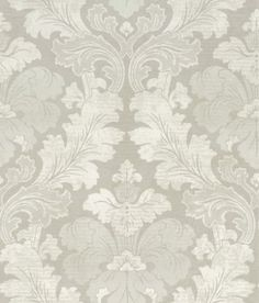 Bonaparte  (0284BPSOPHI) - Little Greene Wallpapers - A revision of a classic 19th C French damask, this wallpaper has been given a modern and contemporary feel by using rich shades of colour, layering and a graduation of colour. Shown here in neutral greys and whites. Other colour ways are available. Please request a sample for a true colour match.