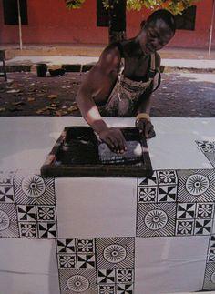 Silk Screen Printing in Ghana Textile Prints, Textile Design, Textile Art, African Textiles, African Fabric, African Patterns, African Design, African Art, Silk Screen Printing