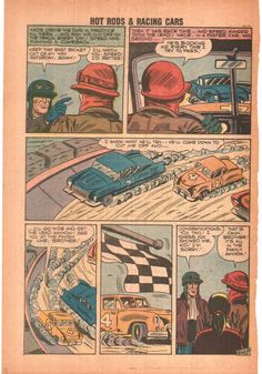 Comic Book Cover For Hot Rods And Racing Cars #33