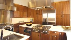 Huntwood walnut cabinets