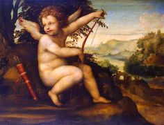 Cupid in the Landscape by Sodoma (Giovanni Antonio Bazzi) (Italian), oil on canvas transferred from panel, genre: High Renaissance, ca. Canvas Art Prints, Oil On Canvas, Claes Oldenburg, William Adolphe Bouguereau, Hermitage Museum, Web Gallery, Peter Paul Rubens, Paul Cezanne, Greek Mythology