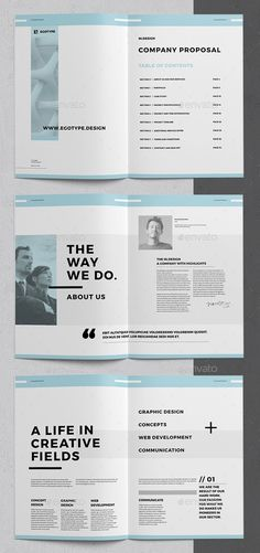 36 Pages Minimal Corporate Business Proposal Template (InDesign) #proposal #brochure #template #indesign