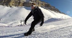Zbynek Šuba and Michael Podešva have created Snowfeet, a lightweight pair of mini ski attachments that clip on over your boots, allowing you to hit the Over Boots, Snow And Ice, Winter Wonderland, Mount Everest, Skiing, Mini, Outdoor, Activities, Sports