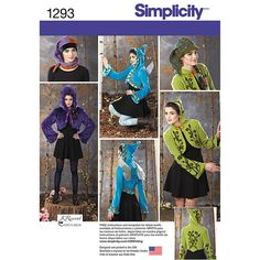 Simplicity Misses' Costume Jackets, Wings and Hat - Size: R5 (14-16-18-20-22)