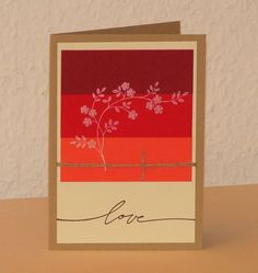 Karte Love rot von Smilland auf DaWanda.com