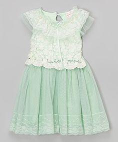Look at this Aqua Lace Dress - Toddler