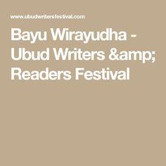 Bayu Wirayudha - Ubud Writers & Readers Festival