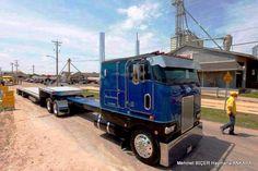 Peterbilt COE w/step deck, Texas triple drop bumper. Large Truck, Small Trucks, Big Rig Trucks, Dump Trucks, Cool Trucks, Peterbilt 379, Peterbilt Trucks, Custom Big Rigs, Custom Trucks