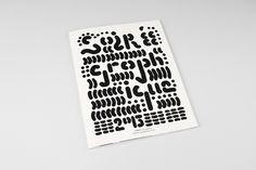 Two / Typography // print design // Source: weareinternetexplorers: