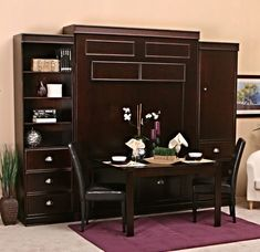 Bristol Birch Vertical Wall Bed w/Table by Wallbeds Build A Murphy Bed, Murphy Bed Desk, Murphy Bed Plans, Murphy Table, Bristol, Murphy-bett Ikea, Modern Murphy Beds, Bed Table, Types Of Beds