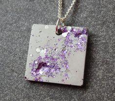 Lilac concrete necklace / #purple #necklace #cement #lilac #necklace #necklaces #jewellery #jewelry #jewelrydesign #concrete #concretejewellery #cement #etsy #etsyseller #etsyshop #etsyfinds #etsyjewelry #pendant #pendantnecklace #etsygifts hearts #gifts #giftideas #unique #uniquegifts #moderndesign #contemporary #contemporaryjewellery