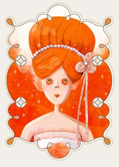 Orange Lady /illustration /vector /illustratorAdobe /Painter /lady /illustrator /orange