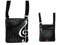Treble Clef Cross Body Bag
