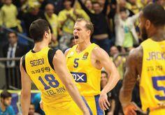 Maccabi Tel Aviv impressively overcomes Real test #Israel #HolyLand via jpost.com Israel News, Holy Land, Tel Aviv, Jerusalem, Beats, Athletic Tank Tops, Tank Man, Yellow, Mens Tops
