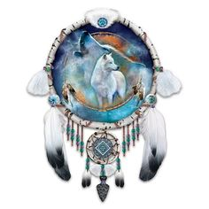 Native American Inspired Dreamcatcher Collector Plate: Souls Of The Night by The Bradford Exchange by Bradford Exchange. $49.99. Masterfully handcrafted of artist's resin in the artistic traditions of the Knowles China Company. The dreamcatcher frame is hand-cast and hand-painted to recall the look of real birch bark, providing a unique showcase for Ms. Cavalaris' white wolf spirit artwork. A Collectibles Market Premiere presentation of acclaimed artist Carol C...