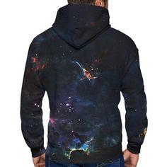 Deep Space Zip-Up Hoodie. Creative design sweatshirt, long sleeves with hood, kangaroo pocket, cuffs and elastic knit bottom. This premium zip-up hoodie is Zip Up Hoodies, Sweatshirts, Fear And Loathing, Colorful Hoodies, Construction Design, Deep Space, Graphic Prints, Creative Design, Organic Cotton