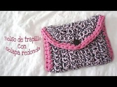 YouTube Diy Crochet Bag, Crotchet Bags, Crochet Blouse, Crochet Purses, Knitted Bags, Love Crochet, Crochet Hooks, Knit Crochet, Knitting Videos
