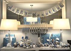 gorgeous chanukah set up