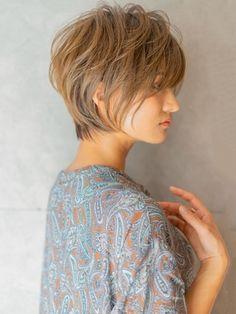 Short Hair Dos, Short Thin Hair, Long Pixie Hairstyles, Short Hairstyles For Women, Japanese Short Hair, Bob Haircuts For Women, Beautiful Haircuts, Lob Haircut, New Hair