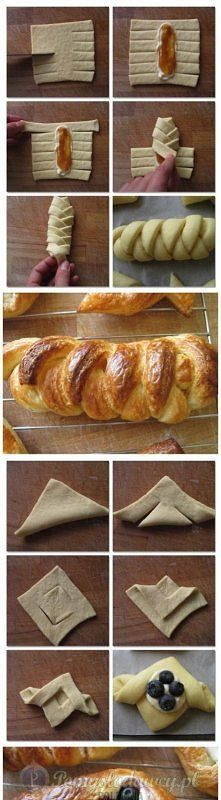 kształty z ciasta francuskiego