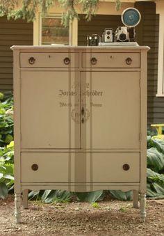 stenciled dresser   Stencil dresser no. 2
