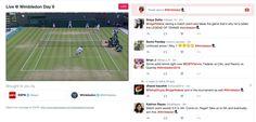 Twitter lance la couverture d'événements en direct sur Wimbledon. #digital
