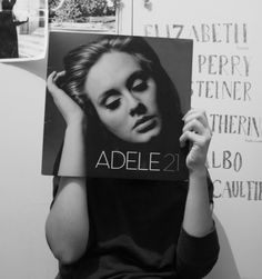 adele, black and white, photography
