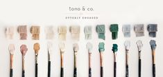 A curated hand dyed ribbon collection with tono & co. and Utterly Engaged.