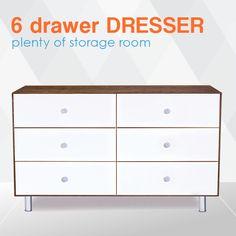 Merlin 6 Drawer Dresser has a modern and smart design. Like on Instagram @LiapelaModernBaby