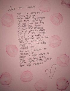 Love me harder. The Weeknd & Ariana Grande..