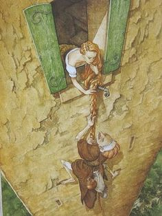 P.J. Lynch -- The Candlewick Book of Fairytales ...  Rapunzel