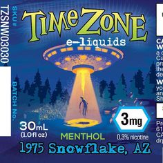 """Time Zone e-liquids flavor """"1975 Snowflake AZ"""" #designedbymonkeys @time_zone_eliquids #clientwork  Drawn in Illustrator with brushes from @retrosupply  Man project has been fun. Full ground-up branding of a UFO themed line of vape liquids including all the illustrations for the bottles. Each one is branded for a specific extraterrestrial encounter including the year and location. All original illustration   #vapelife #vapeporn #vapelyfe #vapecommunity #vapefam #vapeon #vapestagram #vapehappy…"""