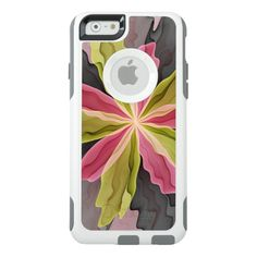 Joy, Pink Green Anthracite Fantasy Flower Fractal OtterBox iPhone 6/6s Case