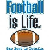 Foot Ball Is Life The Rest Is Details by Mychristianshirts on Etsy